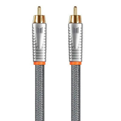 Monolith Digital Coaxial Male/Male Audio Cable - 1 Meter - 18AWG with Nylon Braided Jacket, Oxygen-Free Solid Core Conductors, 24K Gold-Plated
