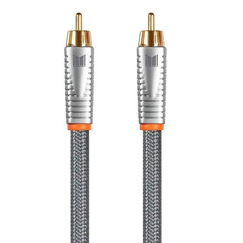 Monolith Digital Coaxial Male/Male Audio Cable - 1 Meter - 18AWG with Nylon Braided Jacket, Oxygen-Free Solid Core Conductors, 24K Gold-Plated - image 1 of 4