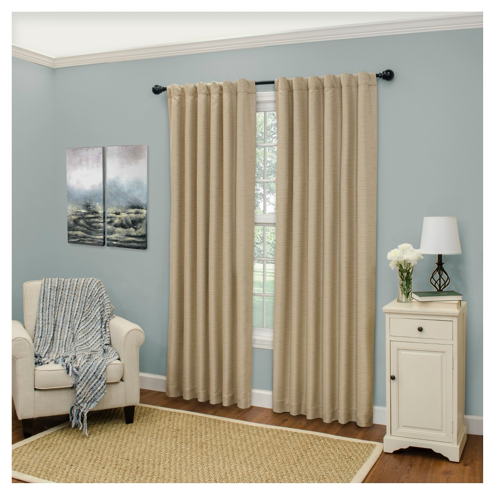 Cromwell Thermaweave Blackout Curtain Panel Tan (52