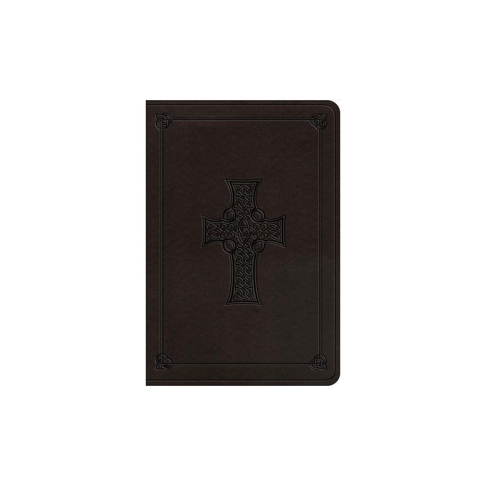 Holy Bible : English Standard Verson Value Bible, Charcoal, Trutone, Celtic Cross Design - (Paperback)