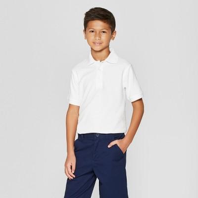 French Toast Boys' Short Sleeve Pique Uniform Polo Shirt