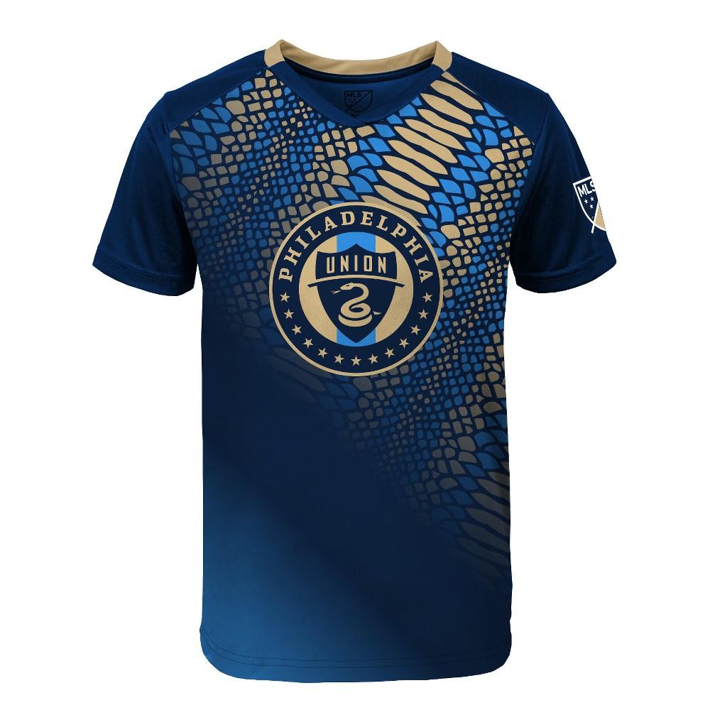 Boys' Short Sleeve Game Winner Sublimated Performance T-Shirt Philadelphia Union XS, Multicolored