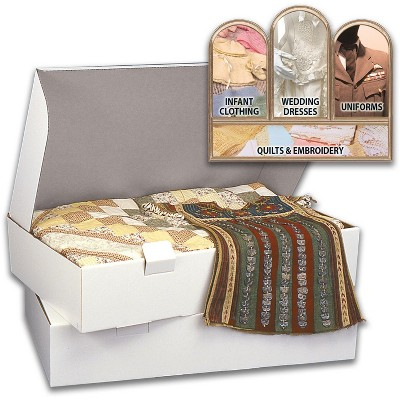 """PROP-IT Acid-Free Museum Quality Storage Chest for Textiles-Extra Large Size 6""""X18""""X40"""""""