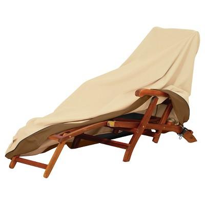 Veranda Patio Steamer Chaise/Deck Chair Cover   Light Pebble   Classic  Accessories