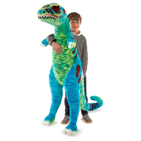 Melissa Doug Jumbo T Rex Dinosaur Lifelike Stuffed Animal Over