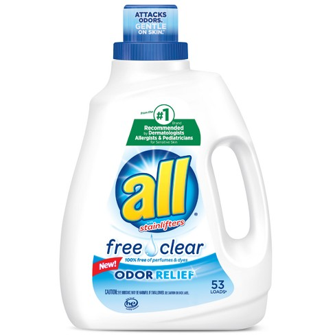 All® Ultra Free Clear Odor Relief HE Liquid Laundry Detergent 94.5oz - 53 loads - image 1 of 4