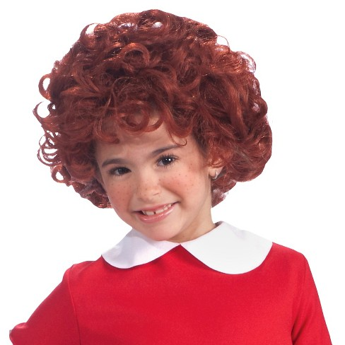 Kids' Halloween Annie Costume Wig Red - image 1 of 1