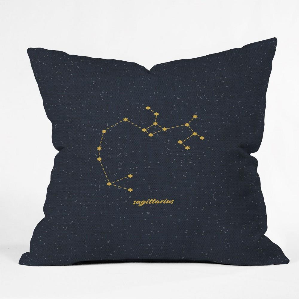 Holli Zollinger Constellation Sagittarius Square Throw Pillow Blue - Deny Designs