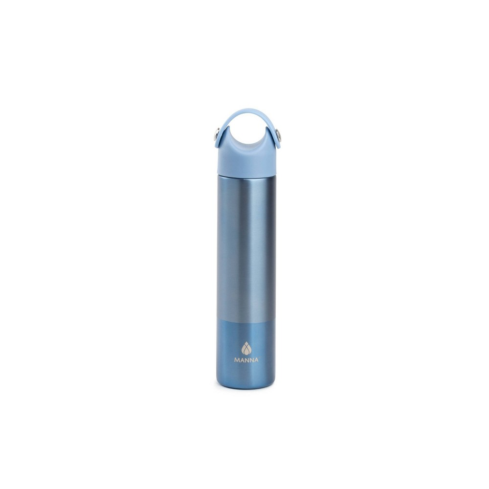 Image of Manna 10oz Stainless Steel Frosted 2-Tone Hydration Bottle Blue