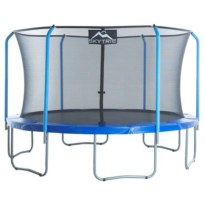 """Skytric 13' Trampoline with Top Ring Enclosure System equipped with the """"Easy Assemble Feature"""""""