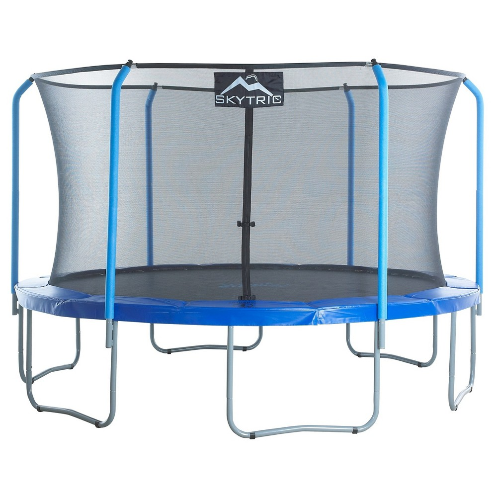 Skytric 13 Trampoline With Top Ring Enclosure System Equipped With The Easy Assemble Feature