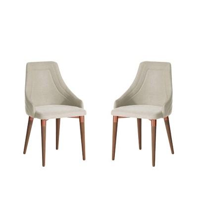 Set of 2 Utopia Dining Armchairs - Manhattan Comfort