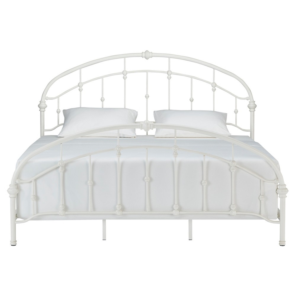 Darby Metal Bed - King - Antique White - Inspire Q