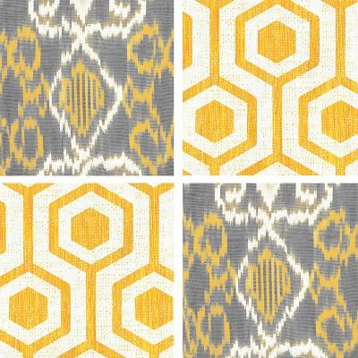 Thirstystone Yellow Lattice & Ikat 4 Piece Occasions Coaster Set