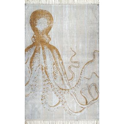nuLOOM Thomas Paul Metallic Octopus Tassel Area Rug