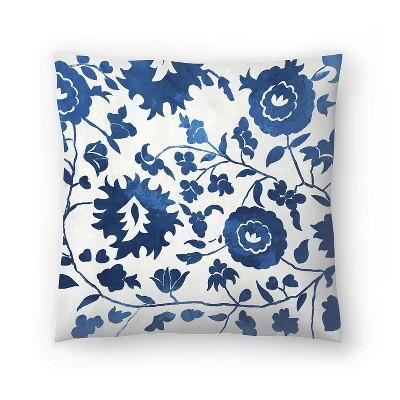 Americanflat Morrocan Indigo Tile Ii by Pi Creative Art Throw Pillow