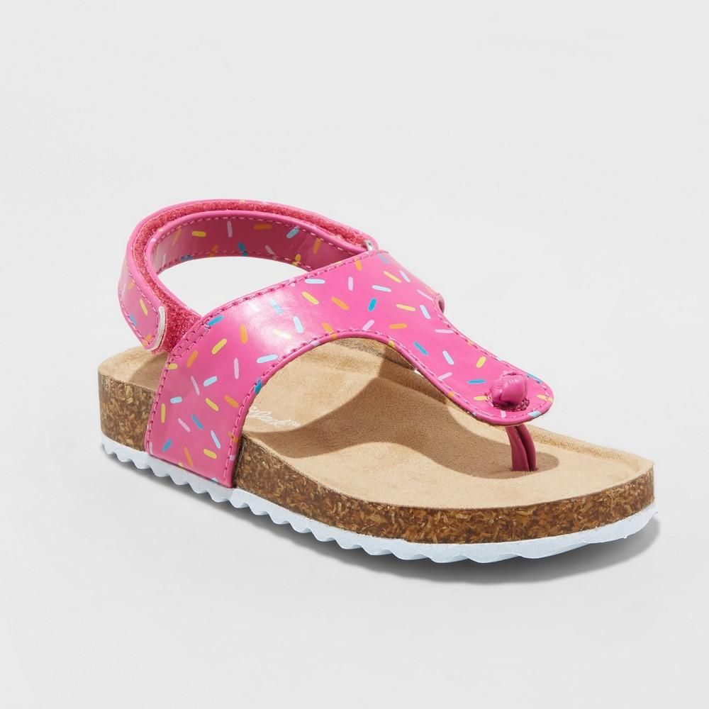 Best Price Toddler Girls Raylynn Thong Footbed Slide Sandals Cat Jack Pink 8