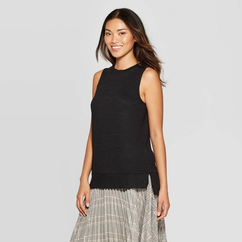 Women's Any Day Casual Fit Crewneck Knit Tank Top - A New Day™ - image 1 of 3