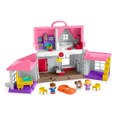 Fisher-Price Little People Big Helpers Home - Pink - image 1 of 4