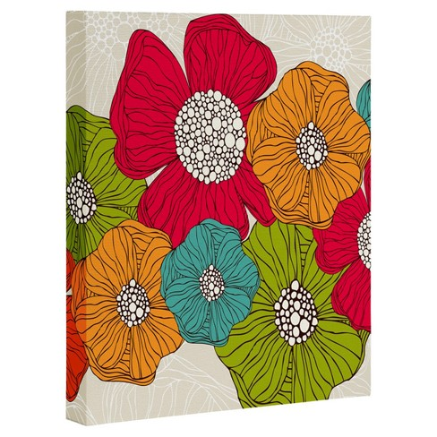 Valentina Ramos Flowers Art Canvas by Deny Designs - image 1 of 1