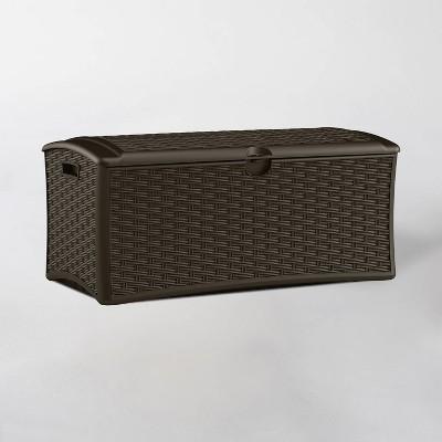 72gal Resin Deck Box Brown M - Suncast