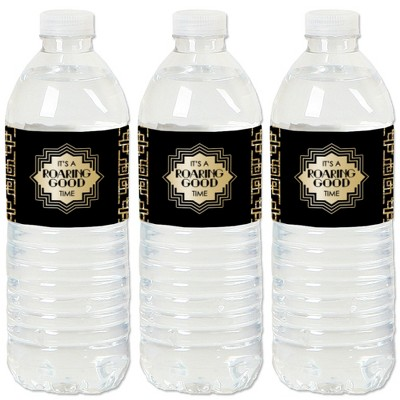 Big Dot of Happiness Roaring 20's - 1920s Art Deco Jazz Party Water Bottle Sticker Labels - Set of 20