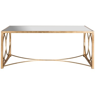 Melosa Coffee Table - Gold with Mirror - Safavieh
