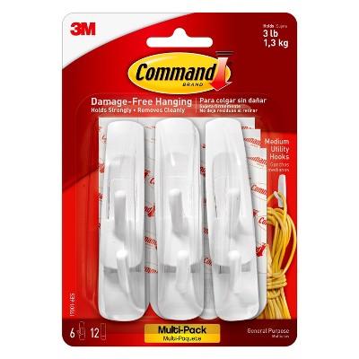 Command® Hook Medium White - 6pk
