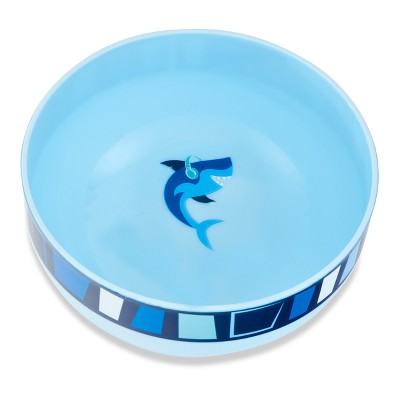 Cheeky Plastic Kids Bowl 10oz Shark - Blue