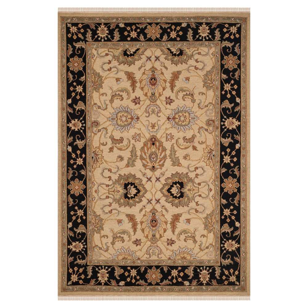 Light Gold/Black Abstract Loomed Area Rug - (6'X9') - Safavieh