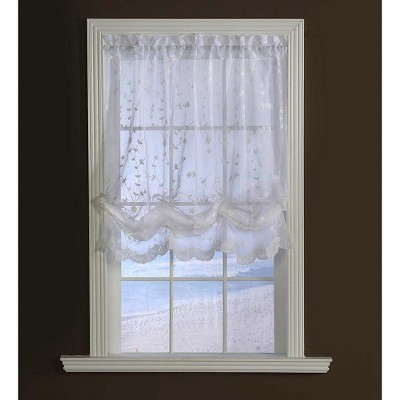 """Candlewicking Embroidered Balloon Sheer, 52""""W x 63""""L"""