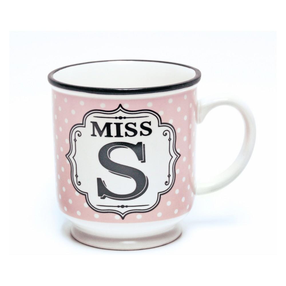 'Miss. V' Mug - History & Heraldry, Pink