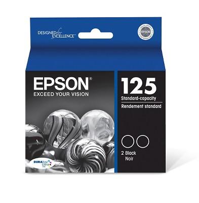 Epson 125 Single & 4pk Ink Cartridges - Black, Multicolor