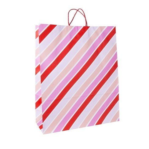 Jumbo Diagonal Striped Bag Pink/Red - Spritz™ - image 1 of 1