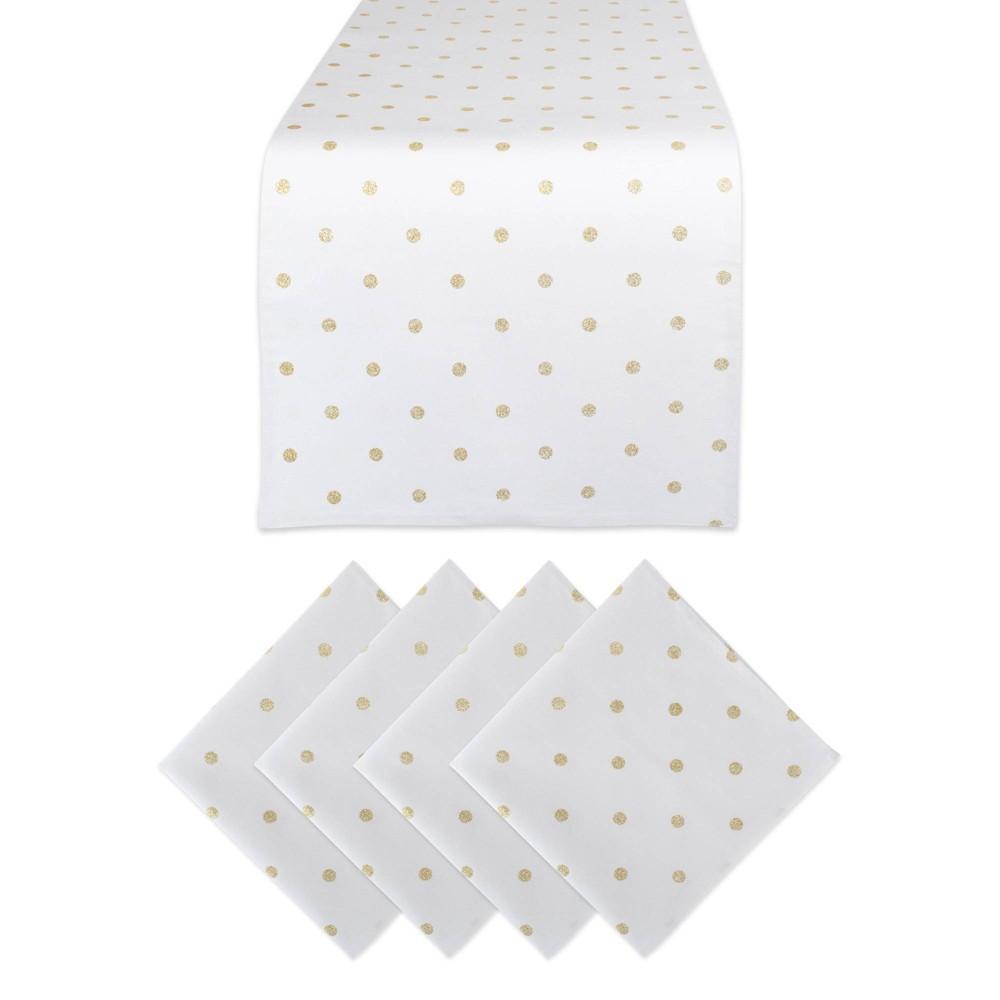 Metallic Polka Dot Table Set Gold - Design Imports