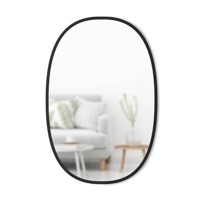 """24""""x 36"""" Hub Wall Mirror Oval Black - Umbra"""