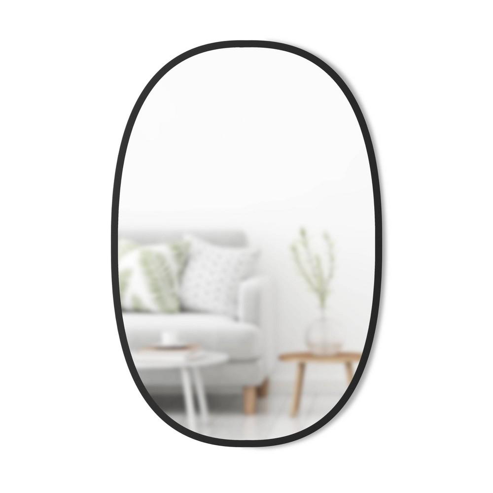 24 34 X 36 34 Hub Wall Mirror Oval Black Umbra