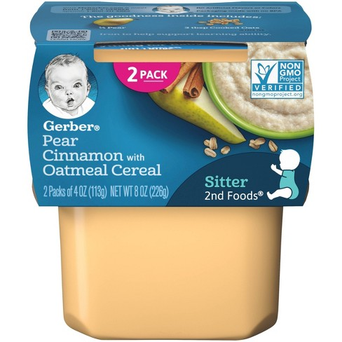 Gerber Pear Cinnamon with Oatmeal Cereal - 4oz/2pk Each - image 1 of 4