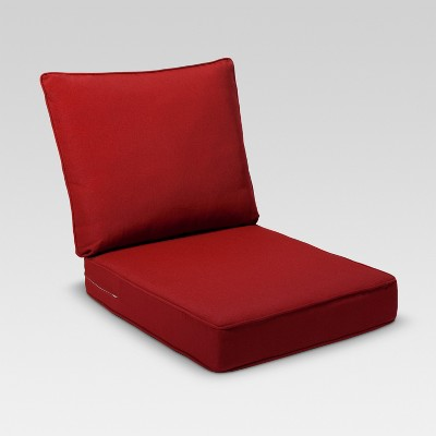 Rolston 2pc Outdoor Seat & Back Replacement Chair/Loveseat Cushion Set - Red - Threshold™