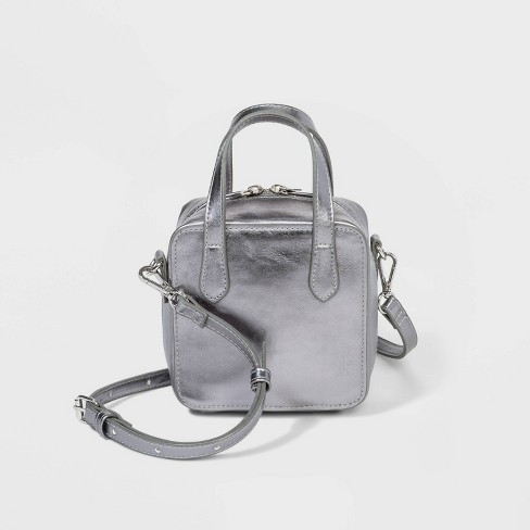 Top Handle Crossbody Bag - Wild Fable™ Gray - image 1 of 3