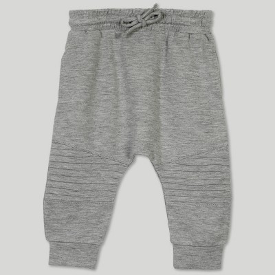 Afton Street Baby Boys' French Terry Moto Jogger Pants - Gray 0-3M
