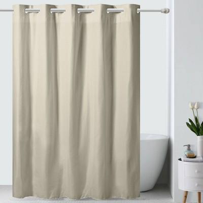 Embossed Microfiber Shower Curtain - Hookless