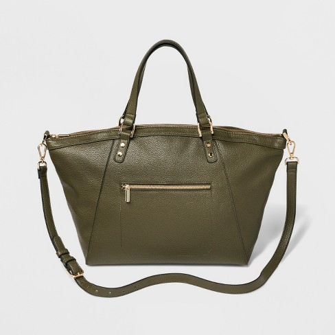 Women's Slouchy Satchel Handbag - A New Day™ - image 1 of 3