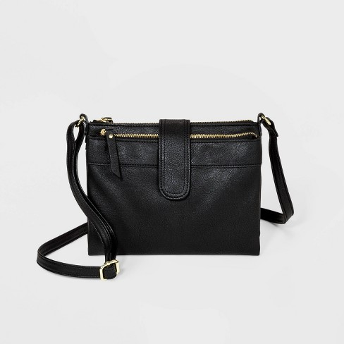 Bueno Multi Compartment Crossbody Bag Wallet - Black - image 1 of 4