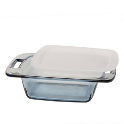 "Pyrex 8"" Square Glass Lidded Bakeware"