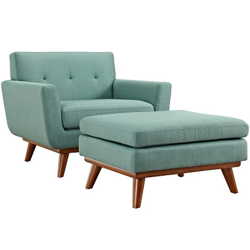Engage 2pc Armchair and Ottoman Laguna - Modway - image 1 of 7