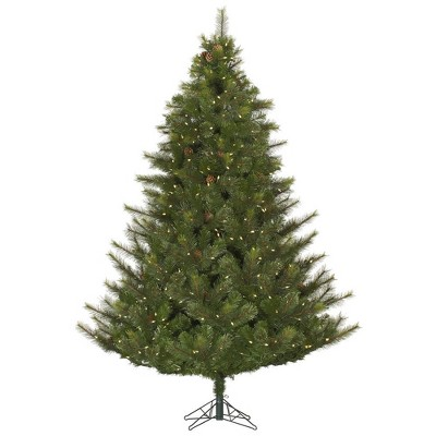 6.5ft Pre-Lit Artificial Christmas Tree Full Modesto Mixed Pine - with 450 Warm White LED Lights