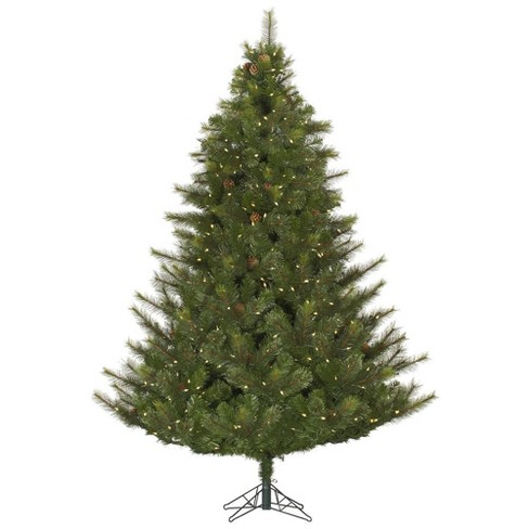 6.5ft Pre-Lit Artificial Christmas Tree Full Modesto Mixed Pine - with 450 Warm White LED Lights - image 1 of 2