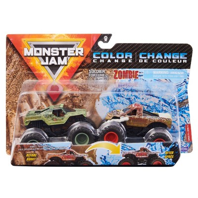 Monster Jam  Color Change Zombie  - 1:64 Scale - 2pk
