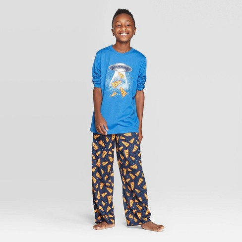 Boys' Pizza Pajama Set - Cat & Jack™ Blue - image 1 of 3